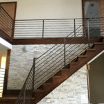 custom interior stair rail east coast ornamental welding daytona beach