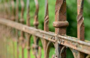 metal photo of old metal fence we do refinishing daytona beach