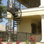 beautiful spiral staircase home exterior daytona beach fl