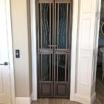 contemporary custom metal wine gate