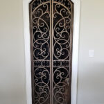 custom metal wine gate scroll design